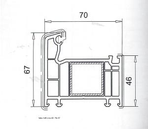 Veka Soft Line 70 AD 70x67 Rahmen